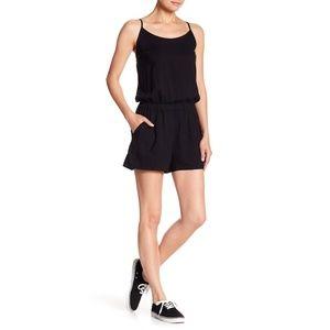 SPLENDID black sleeveless tank cami shorts romper